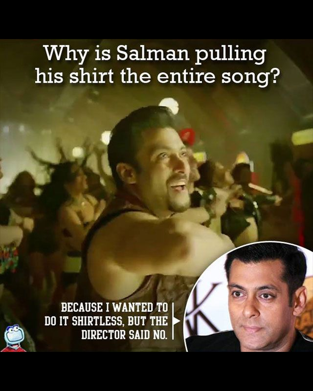 This shows us how Salman Khan will keep following his trend of going shirtless.