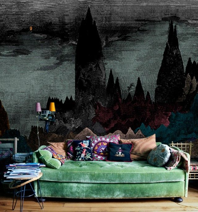 Dreamy couch: Sofa, Interior, Idea, Green Couch, Livingroom, Living Room, House, Space