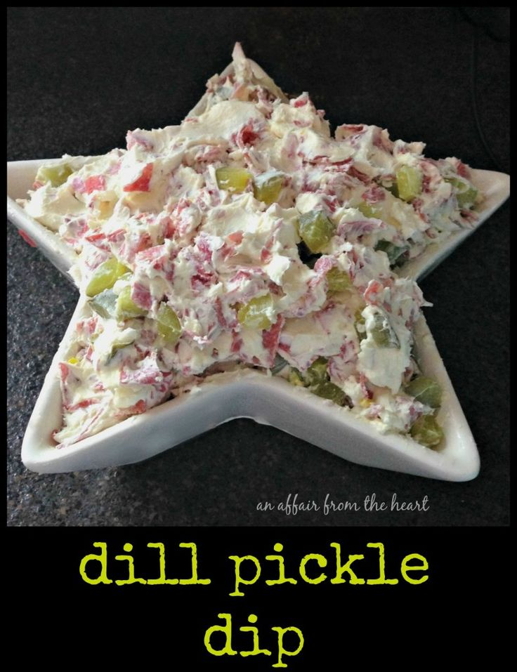 Dill Pickle Dip - Love those dill pickle wraps? This dip will have you grinning from ear to ear! An Affair from the Heart