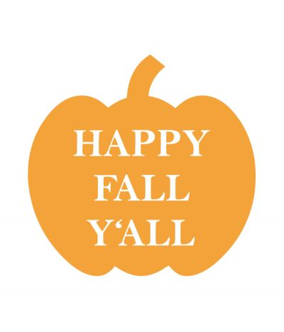 Happy Fall Y'all Pumpkin SVG File - Chicfetti Parties