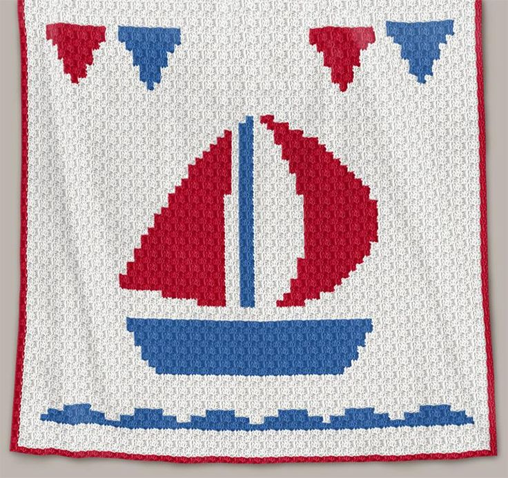 Crochet Pattern | Baby Blanket - Boat - C2C (RBR)