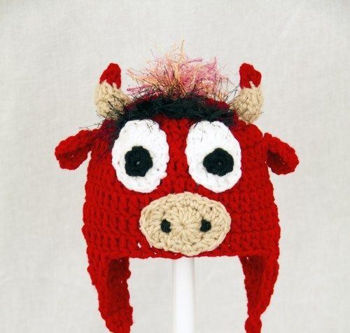 Benny the Bull Earflap Hat Chicago Bulls Send Size Baby - Adult