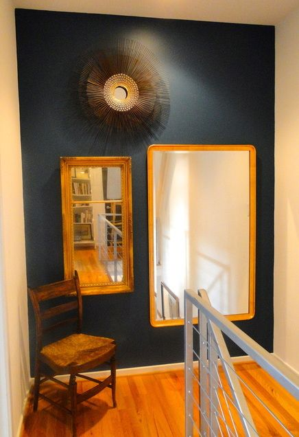 Benjamin Moore 2057-20 Galapagos Turquoise accent wall  -after the redesign company