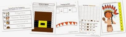Thanksgiving Kindergarten Extension Pack