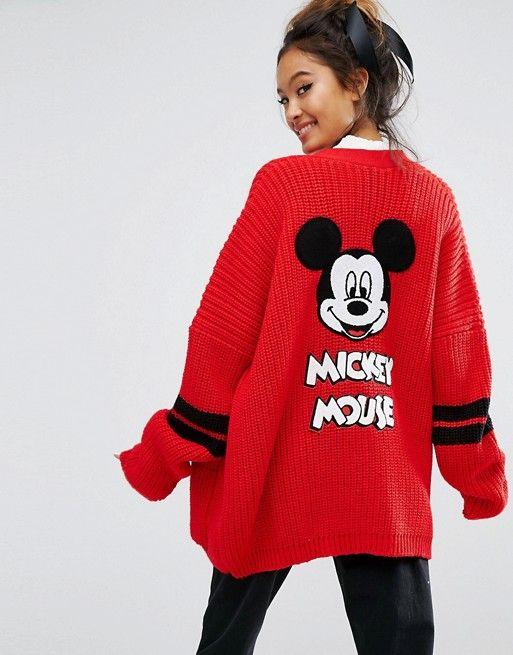 Lazy Oaf X Disney Mickey Mouse College Cardigan