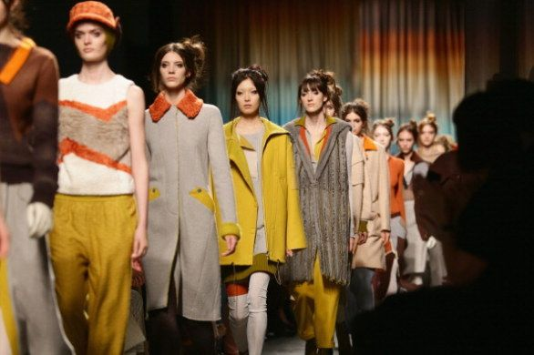 Missoni catwalk F/Wcollection 2014-15 Free style and color-block!