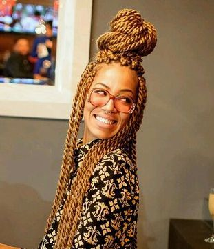 Gold Hair Senegalese Twist African Hairstyles