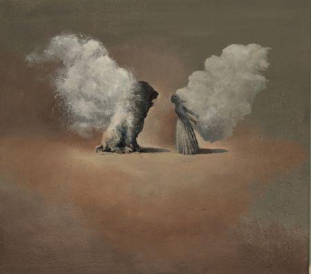 Visual artist Samuli Heimonen BUTTERFLY. Acrylic and oil on canvas. 2011