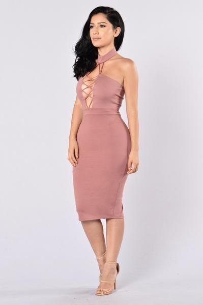 Omnia Dress - Mauve