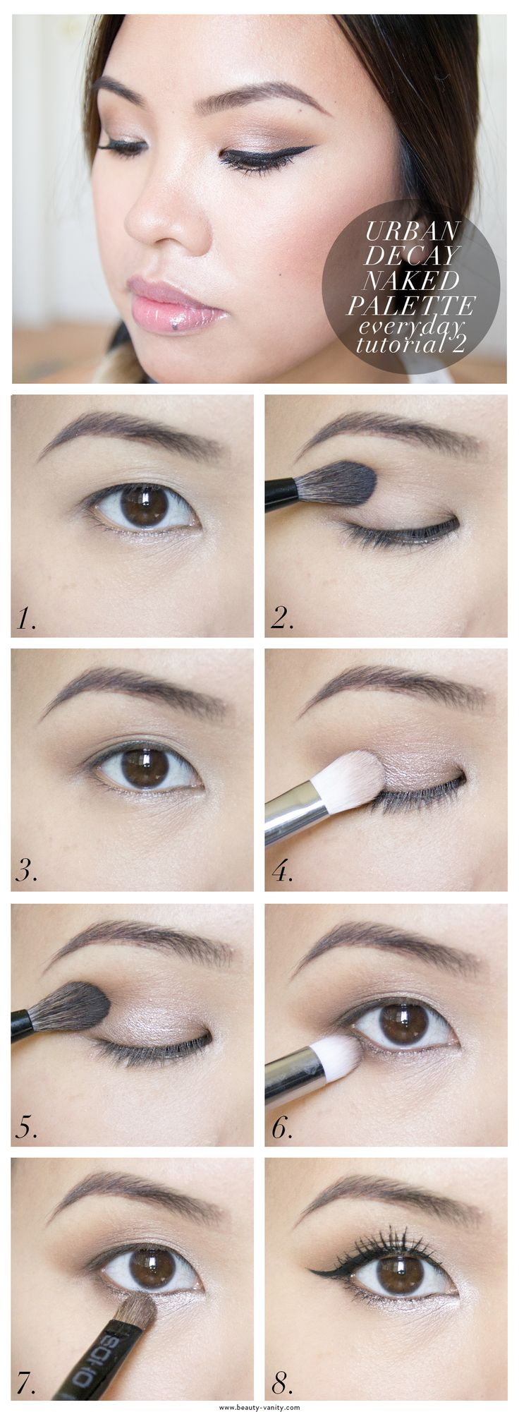 The Beauty Vanity | Urban Decay Naked Palette Everyday Makeup Tutorial 2 for Asian Eyes