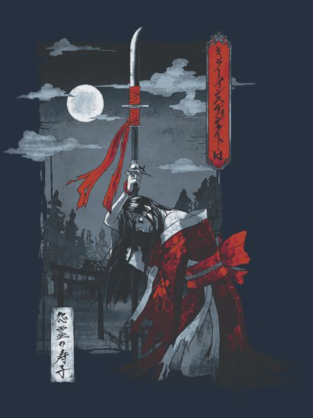 Village of Whispers The everlasting child, Hisako, is haunting this moon bathed Killer Instinct tee. Inspired by traidiotnal Japanese art, Onryō strikes a balan