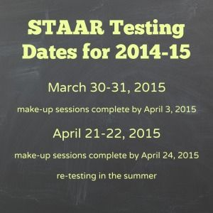 STAAR Testing Dates for 2014-15 | Alamo City Moms Blog