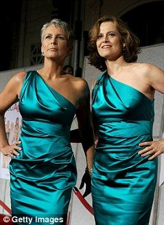 Still got it: Actress Sigourney Weaver, left, star of Cedar Rapids, showing some glamour with Jamie Lee Curtis. Cinema-goers sick of seeing older women as 'sexless grandmothers