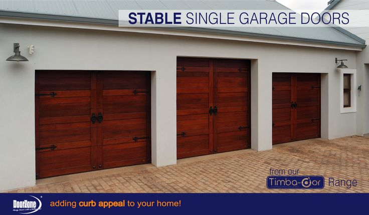 Stable single sectional overhead Garage Doors were chosen for this country style home. www.doorzonesa.com