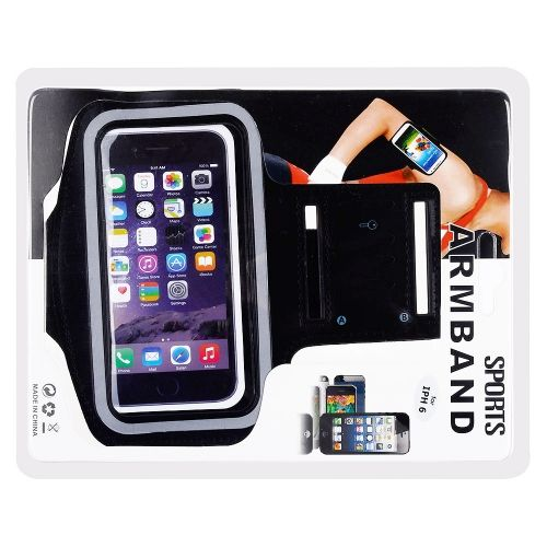 "Apple iPhone 6 Plus (5.5"") - Athletic Runner Armband Black - myaccessoryguy"