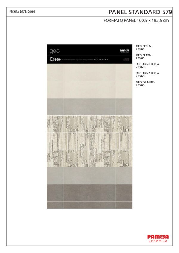 GEO 20X60/45X45 - PASTA ROJA - Pamesa Cerámica