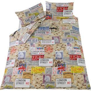Buy Travel Memento Multicoloured Bedding Set - Kingsize at Argos.co.uk, visit Argos.co.uk to shop online for Duvet cover sets