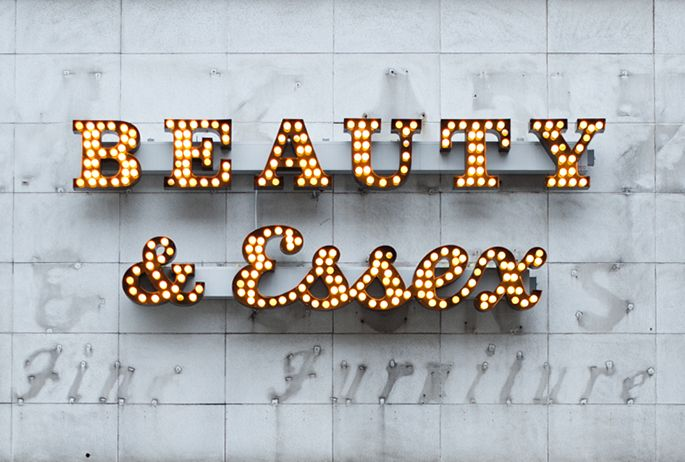 Beauty & Essex #signage #typography