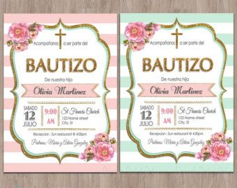 Bautizo invitations invitaciones de bautizo by DamabDigital