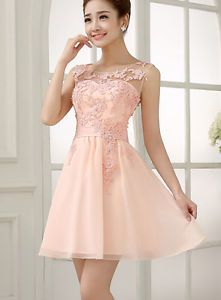 Short-Cocktail-Party-Dresses-Evening-Formal-Bridesmaid-Wedding-Prom-Lace-Dress