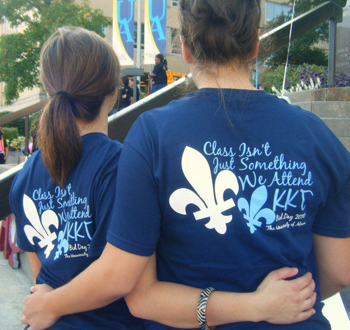 """Class isn't just something we attend. Kappa Kappa Gamma."": Sorority Tshirt, Shirts Ideas, Kappa Kappa, Cute Quotes, Cute Sayings, Kappa Gamma, Sorority Shirts, T Shirts, Bid Day Shirts"