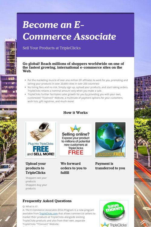 Become an E-Commerce Associate