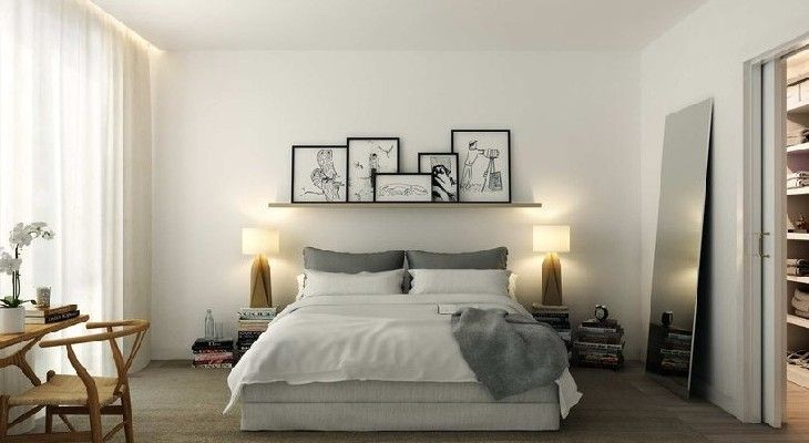 dormitorio de estilo nordico cuadros home
