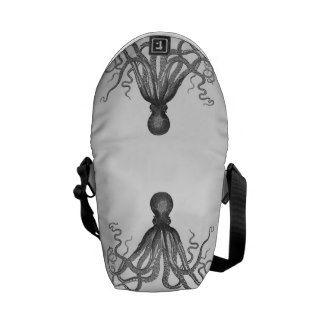 Kraken - Black Giant Octopus / Cthulu Messenger Bags