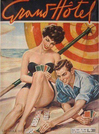 Cover designed by Walter Molino, Italy, 1953. Even the magazine logo was designed by W. Molino.