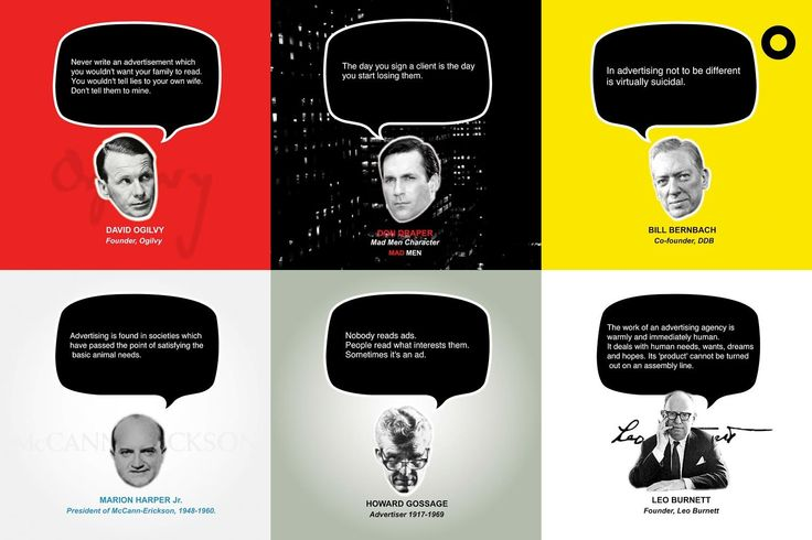 Great Advertising Quotes, by great advertisers