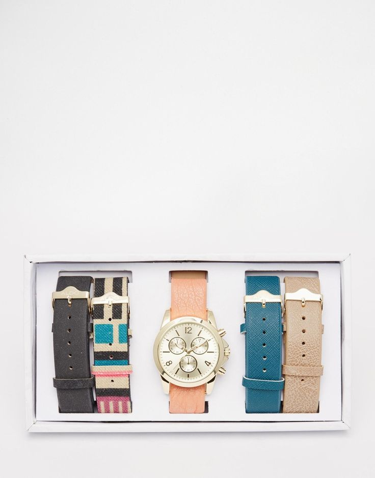 ALDO Uluwien Leather Multi Strap Watch