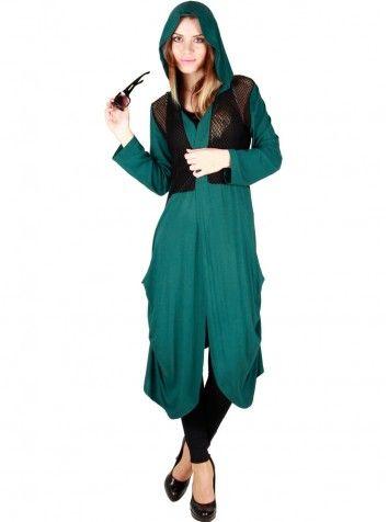 Bayan Hırka Yeşil - Özel Tasarım
