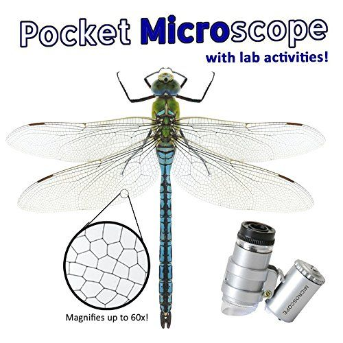 Easy Peasy Science Pocket Microscope 60x and Lab Activities. Zoom in on your general surroundings with this lightweight, tough microscope. 8 lab exercises included! Investigate true STEM exercises! See the contrast between a grain of salt and a grain of sand. Take a gander readily available and the mind blowing, best offer