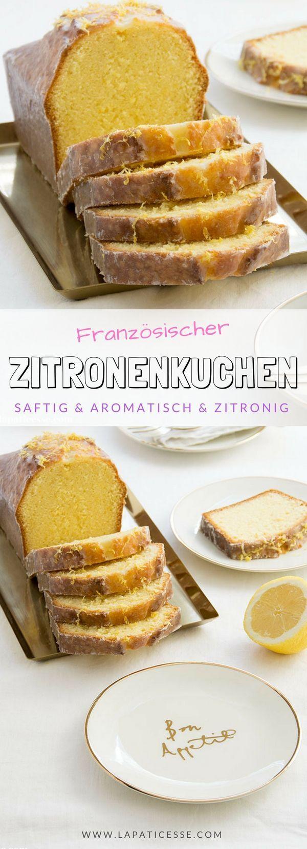 Französischer Zitronenkuchen Cake au citron und viele Kastenkuchen-Tipps