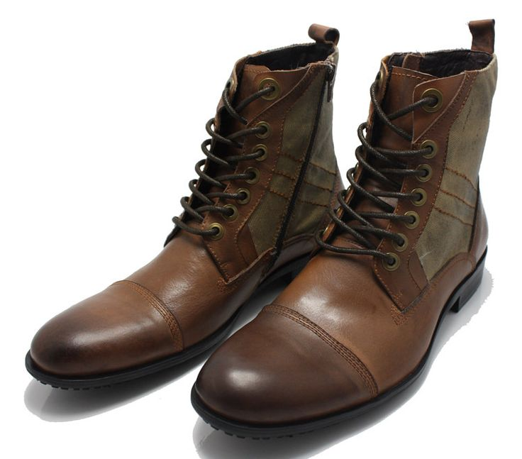 Vintage Mens Leather Boots Gbetqct