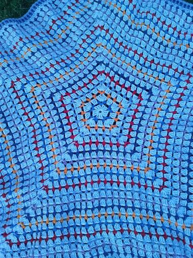 Baby Blue Blanket Afghan by NancysCrochet on Etsy, $40.00