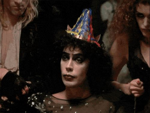 New party member! Tags: reaction reactions excuse me tim curry the rocky horror picture show rocky horror picture show rocky horror frank n furter