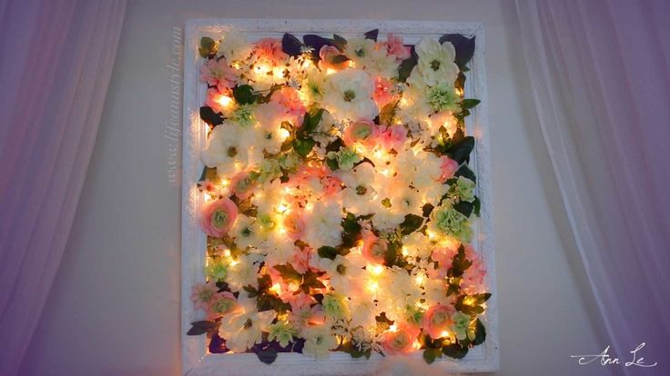 LifeAnnStyle DIY Light-Up Flower Frame Backdrop Room Decor | ANNEORSHINE |