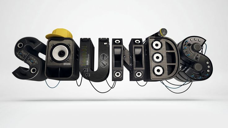 foreal, SOUNDS, FOREAL, 3D, CGI, 3D-Artwork, 3D-Type, 3D-Lettering, benjamin simon, dirk schuster, typography, 3D-Type, 3D Type, 3D-typo www.weareforeal.com