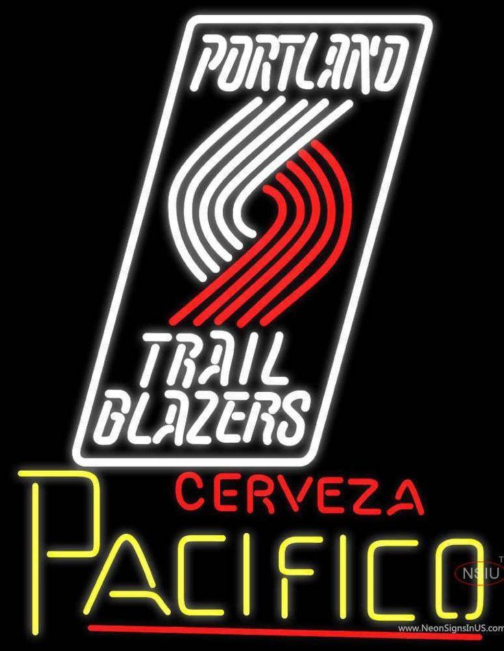 Cerveza Pacifico Portland Trail Blazers NBA Neon Beer Sign