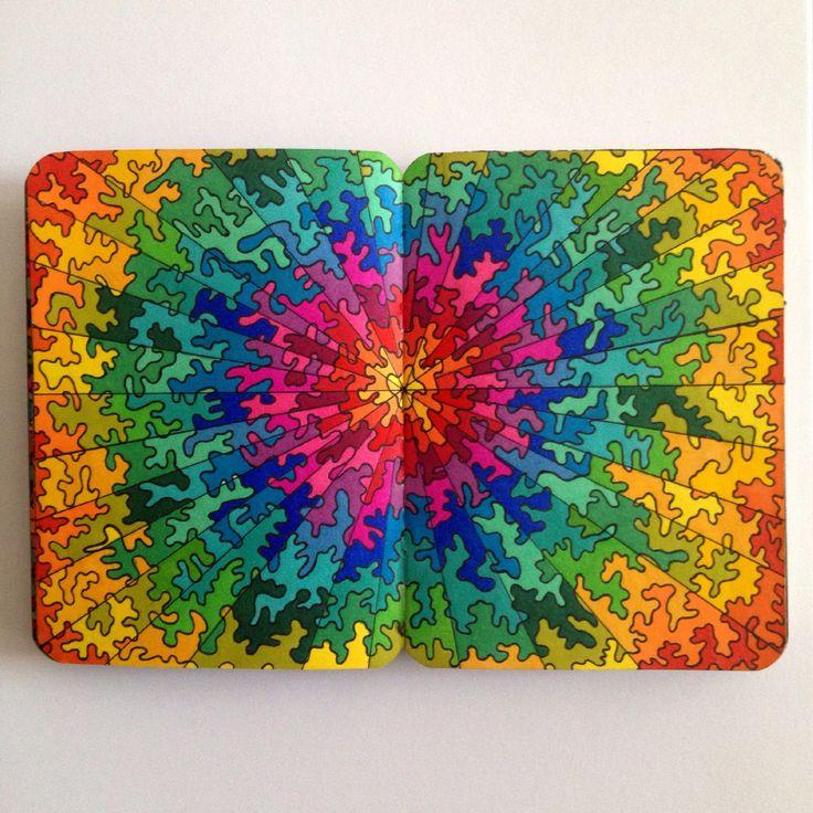Colourful Rainbow Doodle by Priscilla Lopez