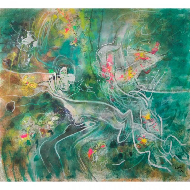 Roberto Anotonio (Echaurren) Matta (Chilean, 1911-2002): Topologie de I'illusion, 1990