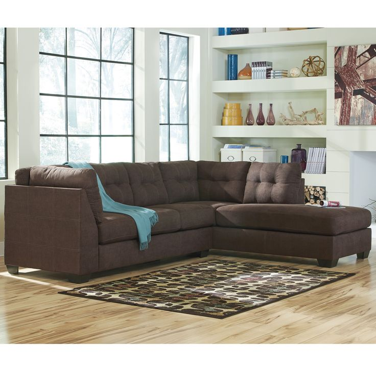 Best Benchcraft Maier Microfiber Sectional Sofa With Right Side Facing Chaise Brown Sectional Sofa 400 x 300