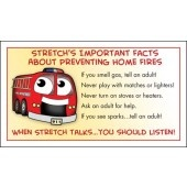 """Stretch's Prevent Home Fires"" Membership Card"