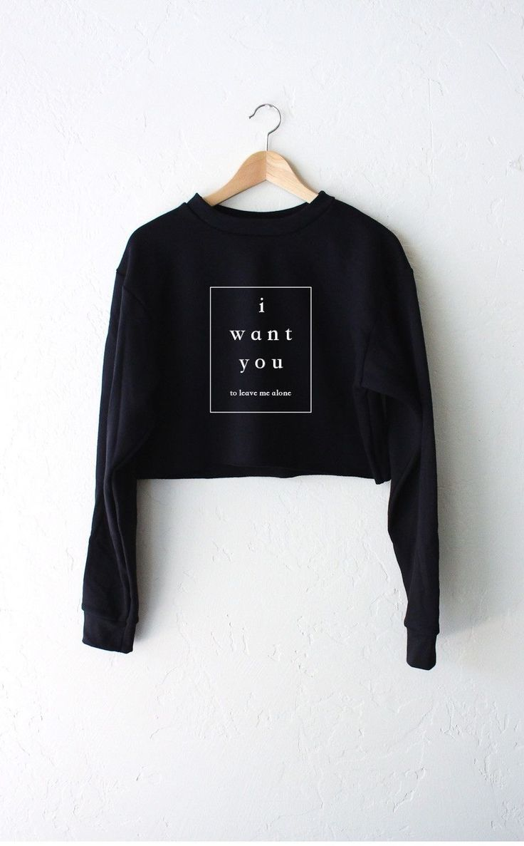 I Want You To Leave Me Alone Cropped Sweater