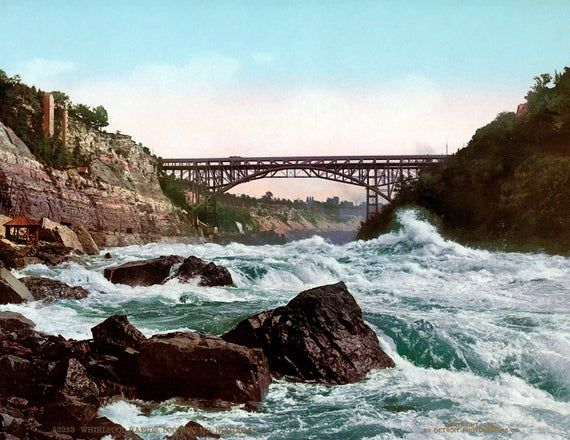 1900 Whirlpool Rapids Niagara River Ny Vintage Photograph Etsy Whitewater Swift Current River