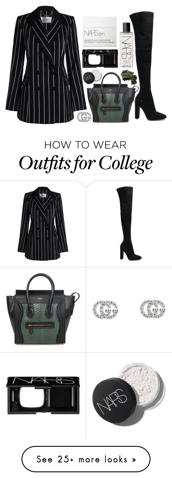 """Untitled #320"" by zada on Polyvore featuring NARS Cosmetics, Gucci, Zimmermann, Gianvito Rossi, CÉLINE and Bobbi Brown Cosmetics"