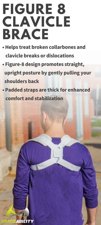 The collarbone is one of the most commonly broken or fractured bones in the body. This injury is typically seen among younger children or people who spend a lot of time playing high contact sports. A broken collarbone can be caused by trauma such as car crashes, severe falls, or sports injuries. This figure 8 brace keeps both shoulders back and stabilizes them rather than a sling which generally just keeps one side stabilized. You can also have full mobility of your hands.