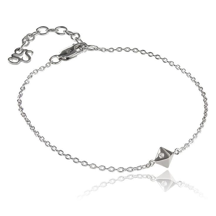 Fate Bracelet in Sterling Silver with diamond - GITTE SOEE Jewellery - Danish Design.