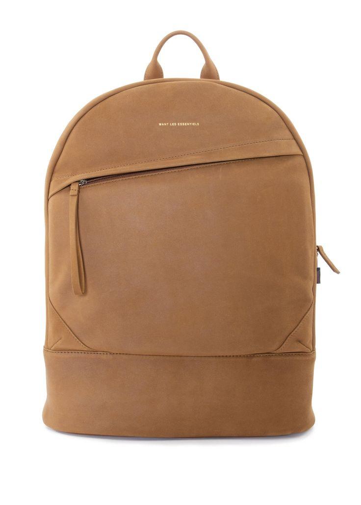 Want Les Essentiels - SS17 - Menswear // Cognac Kastrup backpack